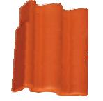 Керемида Атика Protector Странична лява червен (Брамак)