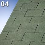 Битумни керемиди правоъгълни Суперглас 3Таб – 3 кв.м. цвят 04 зелен (IKO)