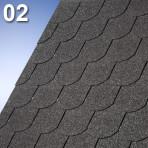 Битумни керемиди боброва опашка Суперглас Бибер – 3.0 кв.м. цвят 02 черен (IKO)