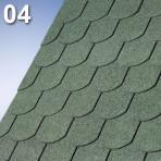 Битумни керемиди боброва опашка Суперглас Бибер – 3.0 кв.м. цвят 04 зелен (IKO)