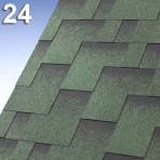 Битумни керемиди самозалепващи Г-образни Скайлан – 3 кв.м. цвят 24 зелен (IKO)