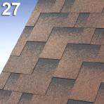 Битумни керемиди самозалепващи Г-образни Скайлан – 3 кв.м. цвят 27 кафяв (IKO)