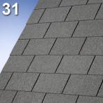 Битумни керемиди четири опашки Арморглас – 3.0 кв.м. цвят: 31 тъмно сив (IKO)
