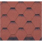 Битумни керемиди самозалепващи пчелна пита – 3 кв. м. червено/черна (Изола Петров)