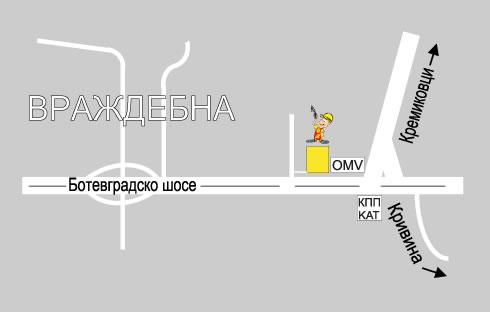 """Карта склад Строителна борса """"Партньори"""" - кв. Враждебна"""