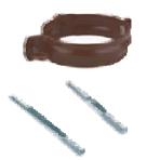 Скоба за водосточна тръба Ф100 с винт 140 мм. Stabicor-M – кафяв (Брамак)